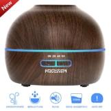 Aroma Diffuser HODGSON 300ml Utraschall Luftbefeuchter Holzmaserung Öl Diffusor mit 7 Fraben LED für Beauty-Salon, SPA, Yoga, Schlafzimmer, Wohnzimmer, Konferenzraum -