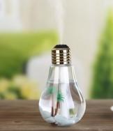 Die originale Healthbulb von BerryKing - Birnen Lufterfrischer Aroma Diffuser Ultraschall Luftbefeuchter Duftzerstäuber Raumluftreiniger Raumbefeuchter 400 ml Luftreiniger Humidifier 25ml/h mit LED für Schlafzimmer Wohnzimmer Büro inkl. Steinen und Palmen -